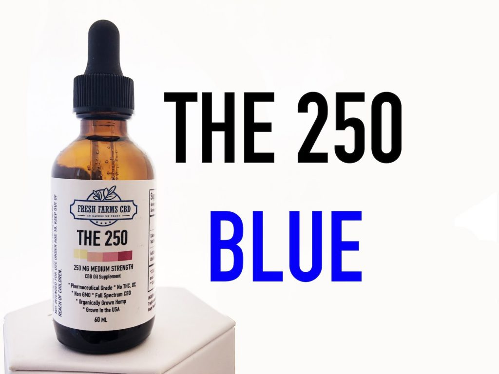 fresh farms cbd 250 bottle